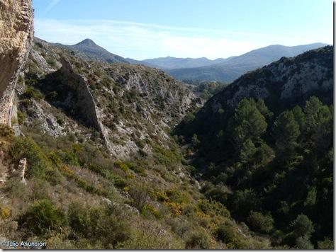 Panorámica desde la cueva de Les Torrunades