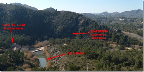 Vista de la Cova Negra desde la subida a Penya Blanca - Valencia