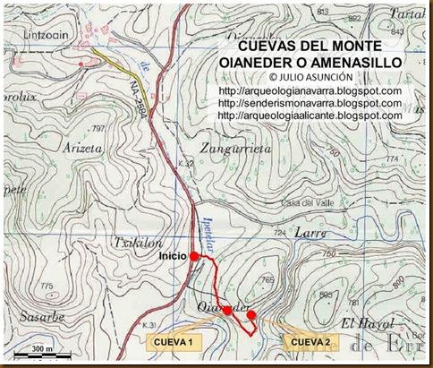 Mapa cuevas de Amenasillo