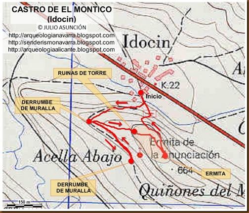 Mapa Castro del Montico - Idocin