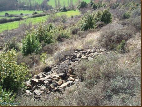 Derrumbe de muralla - Castro del Montico - Idocin