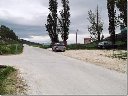 Aparcamiento ruta sierra Gongolatz