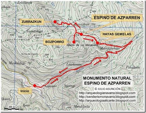 Mapa espino de Azparren