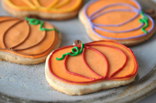 Pumpkin Sugar Cookies, but not the one I ate.