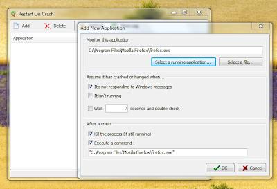 Automatically Restart Application On Crash