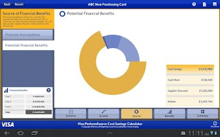 Screenshot of Visa PerformSource CSC