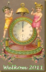 children-clock-vintage-postcard