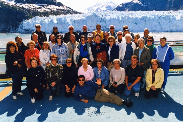 "June 2001 - the ""Max Flower Group"" at Glacier Bay, Alaska."