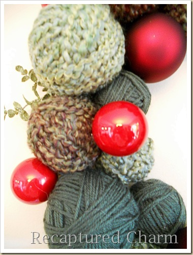 yarn christmas wreath 033a