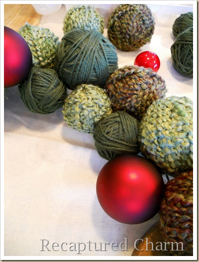 yarn christmas wreath 012a