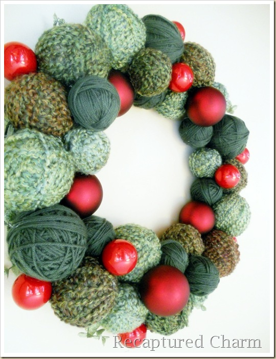 yarn christmas wreath 037a
