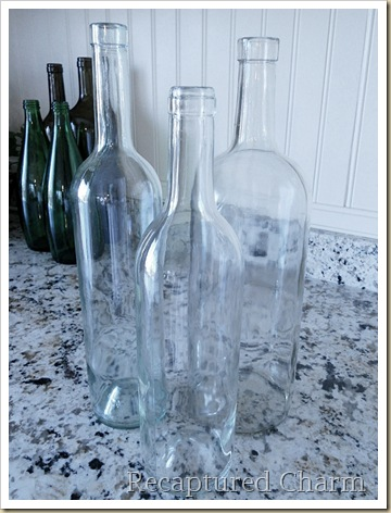 etched wine bottle candle sticks 007a
