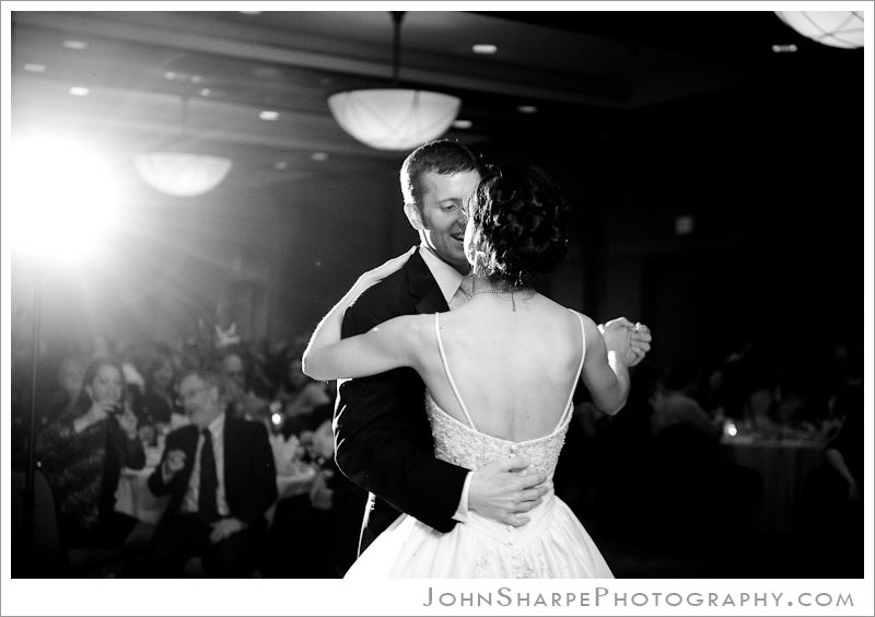 Minneapolis  Wedding Photographer at Holiday Inn Metrodome First Dance