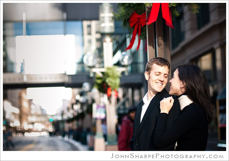 Nicollet Mall in Minneapolis Wedding Engagement Photography