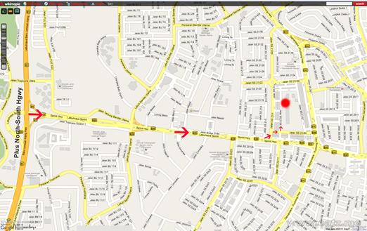 map Uptown damansara2