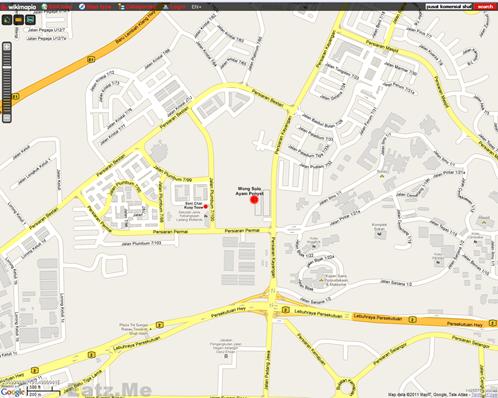map wong solo ayam penyet