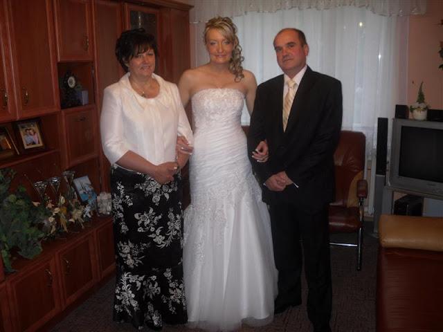 moja i mojego męża chrześnica tuż przed ślubem