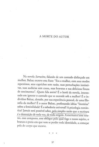 A Morte do Autor 1