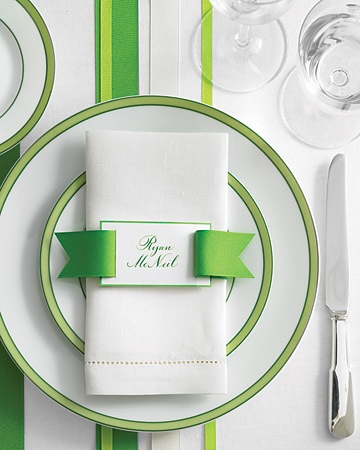 When I am designing a wedding decor I always think about the napkin fold