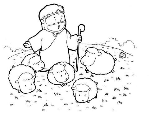 Imagenes para colorear de Jesus el buen pastor - Imagui
