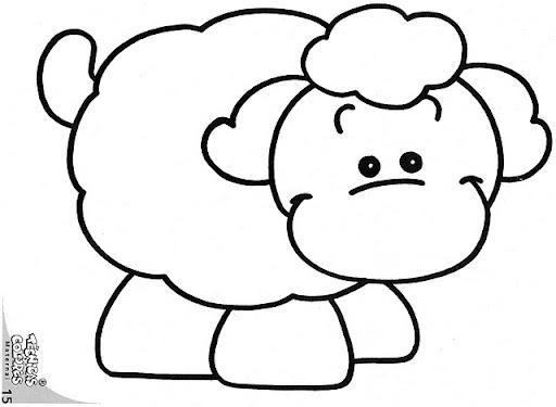 Dibujo para colorear de borrego - Imagui