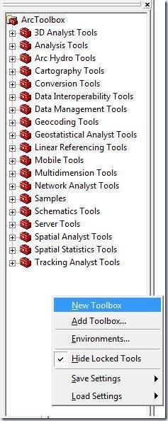 F1. barra de herramientas ArcToolbox
