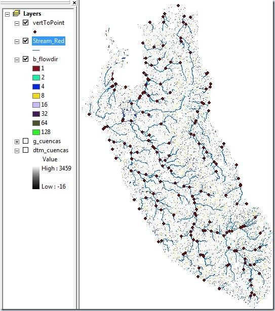 Datos para delinear cuencas