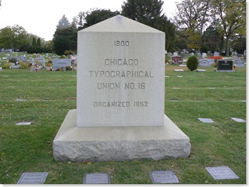 Chicago Typographical Union 16 Memorial at Elmwood Park Cemetery