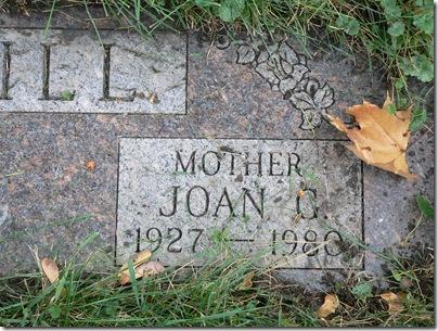McMAHON, Joan Garrison McMAHON Gravestone