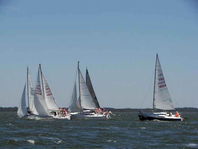 De très beaux bords durant la flottille HOURTIN 2010