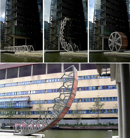 Rolling Bridge (UK): The Bridge that Curls Up on Itself