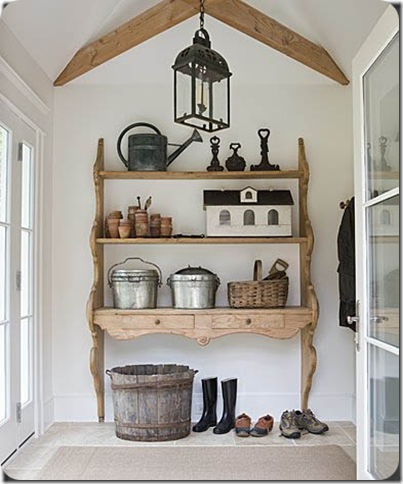 shoe rack idea- brackets and shelves!