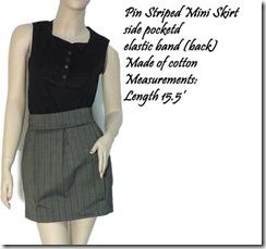 pin striped mini skirt