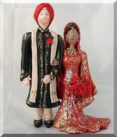 Indian Cake Toppers This bride and groom was her third Indian bride and