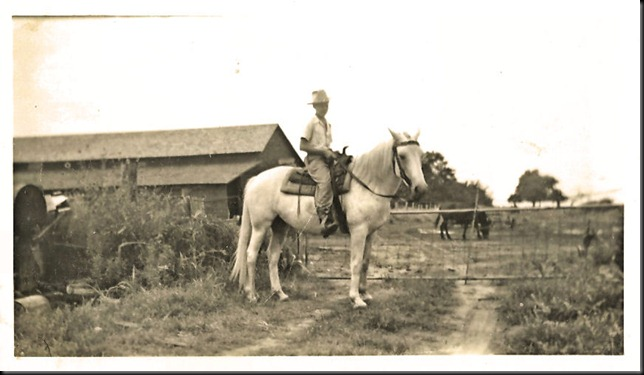 Dad on horse in Cresent, Oklahoma
