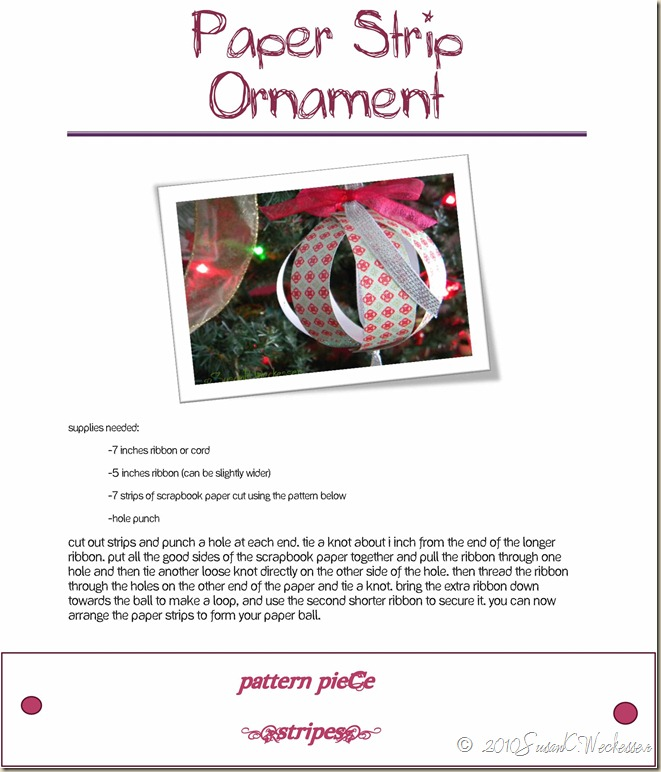 Paper Strip Ornament