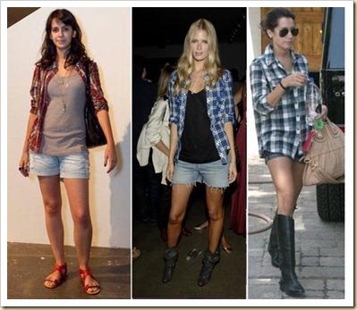 xadrez short jeans