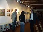 In der Galerie des Erdel-Verlags am Fischmarkt. Rechts: Dr. Erdel