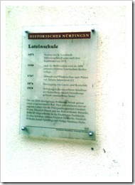 Histor Lateinschule Information