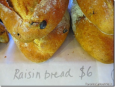 loaf - raisin bread