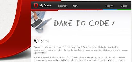 Opera Widgets University Trophy, vinci il trofeo con la tua università!
