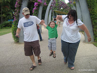 Ben, Grandma Karen and Andrew at Southbank Parklands Brisbane.
