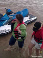 Belinda finally had a ride on the jet ski with Tam.