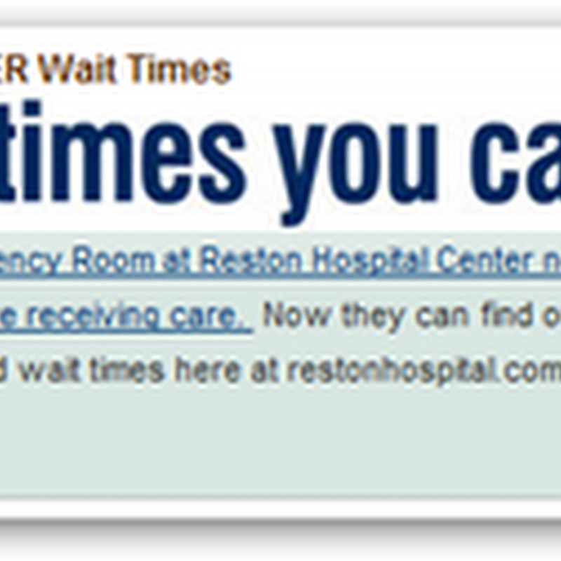 Hospital Using Cell Phone Texting to Broadcast ER Waiting Times