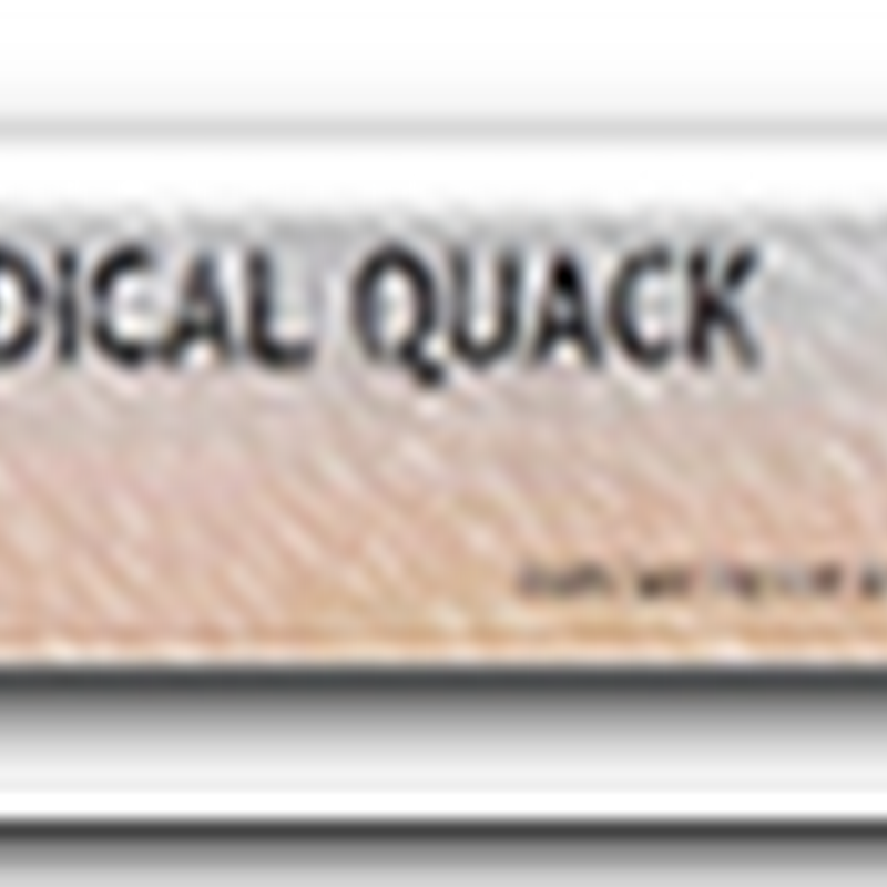 Medical Quack on the Wall Street Journal – November 2008
