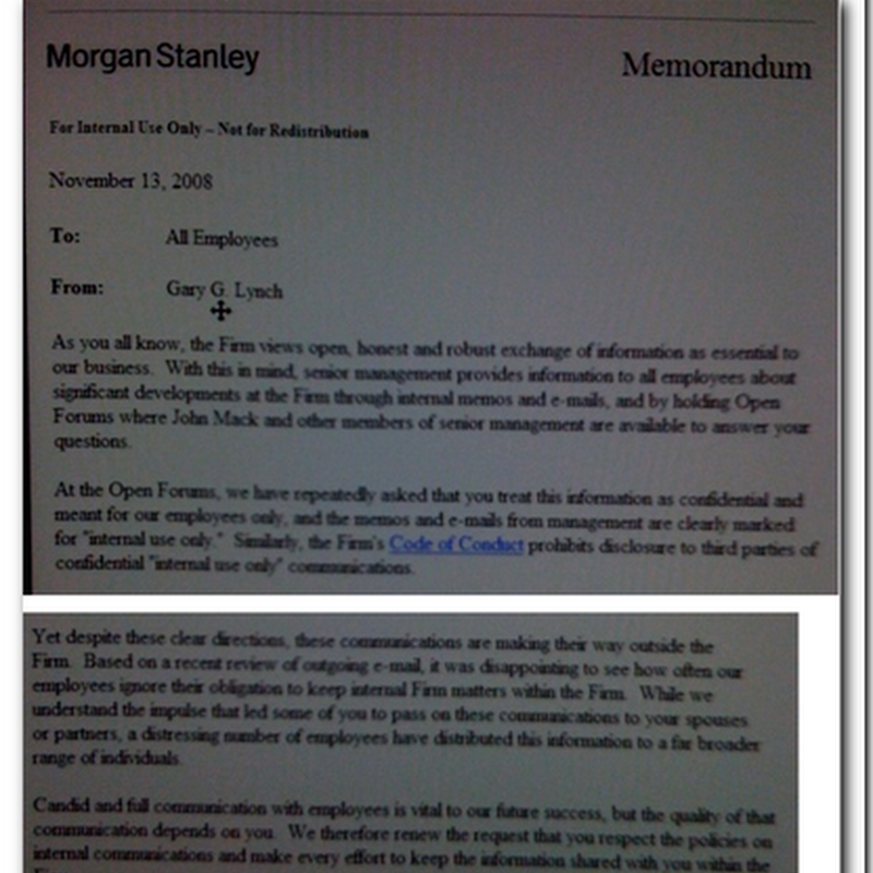 Morgan Stanley and Transparency?