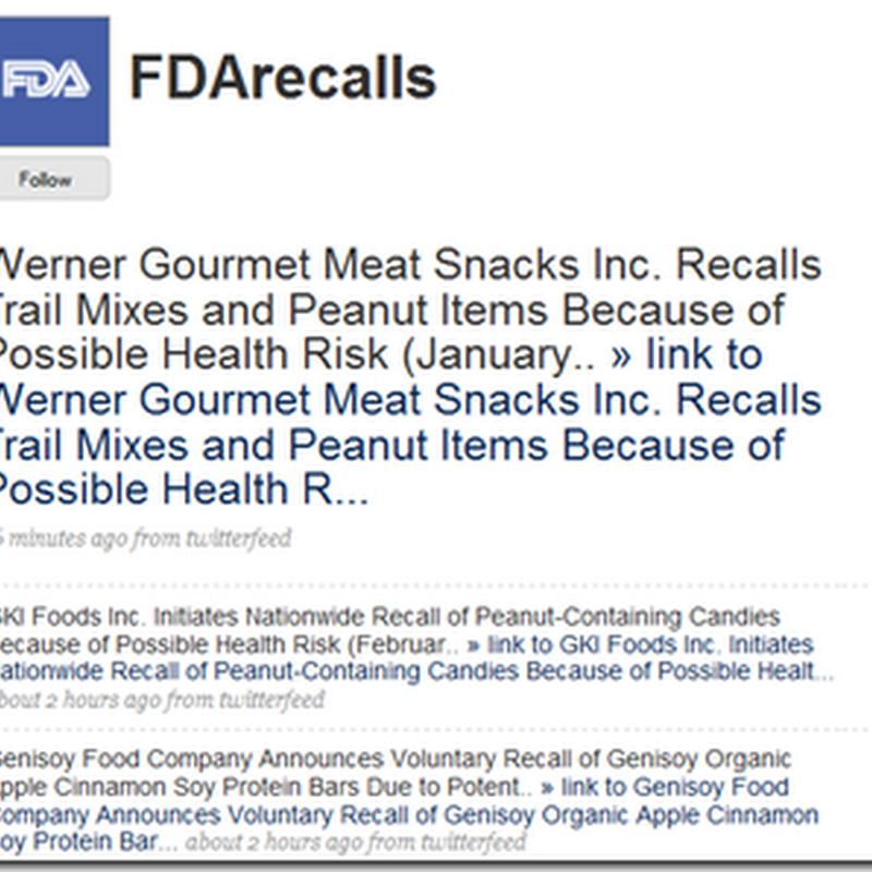 Twitter – Find FDA Recalls Quickly