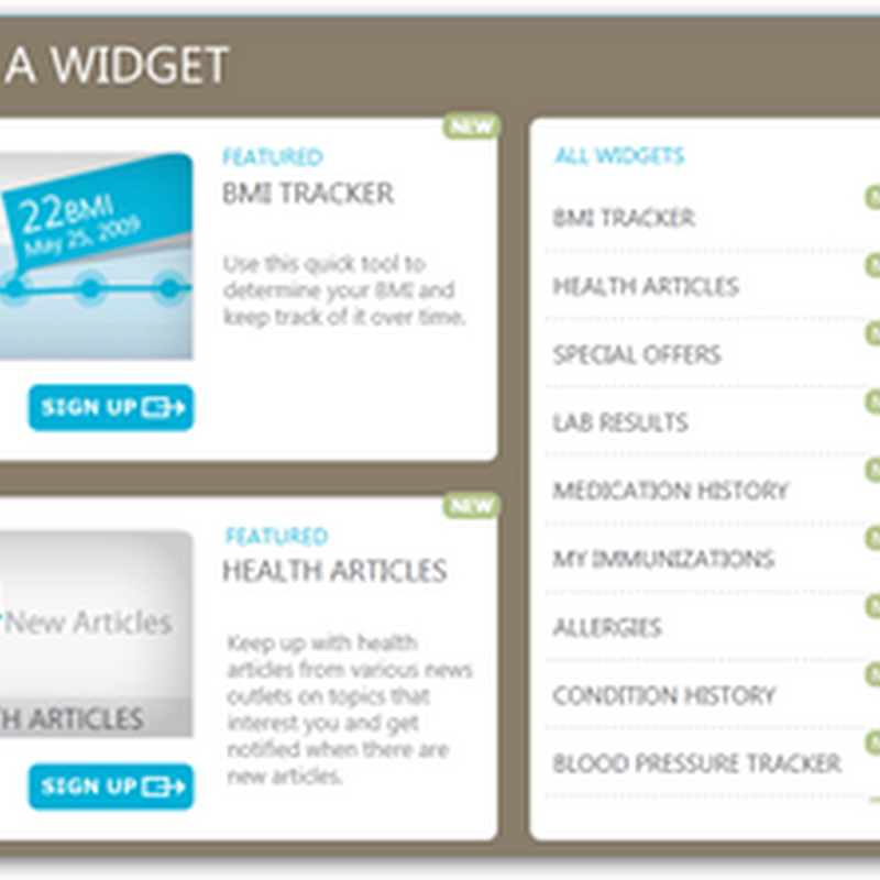 """My Health Info"" – MSN Connecting to HeatlhVault with Widget Based Interface"