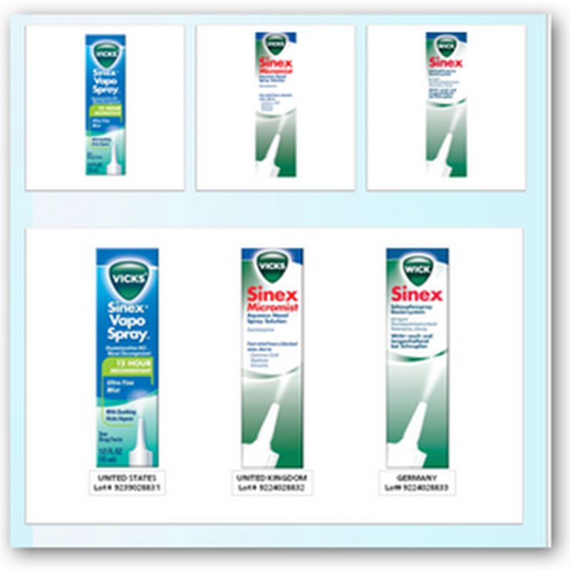 Vicks Sinex Recalls – 3 Lots Distributed in the US, UK and Germany – Bacteria Found