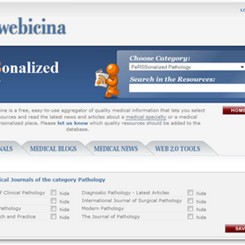 Webicina.Com - Personalized Pathology Information via RSS